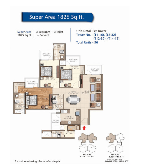 rudra aqua casa floor plan 3bhk 3toilet 1825 sq.ft