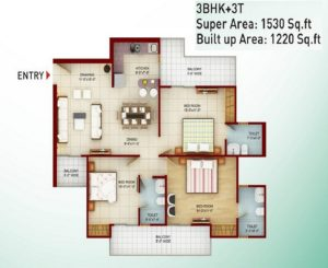 Saviour Greenarch Floor Plan 1530-sqft