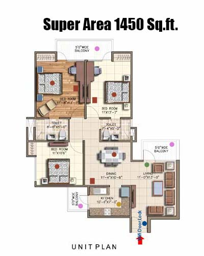rajya sabha digital homes floor plan 1450 sq.ft