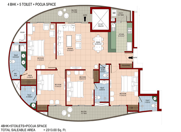 organic-golf-homes-floor-plan-4bhk-5toilet-2313-sq-ft