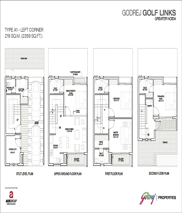 godrej-golf-links-left-corner-floor-plan-2359-sq-ft