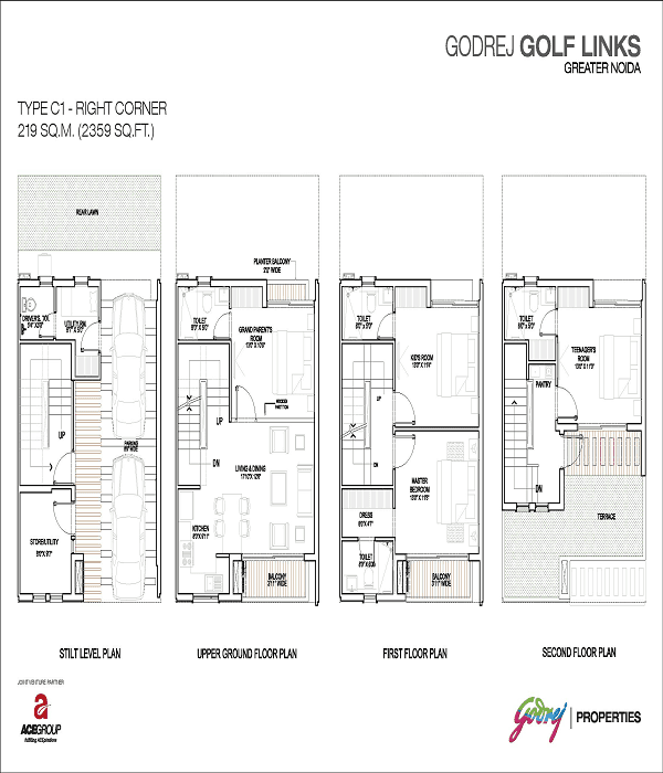 godrej-golf-links-right-corner-floor-plan-2359-sq-ft