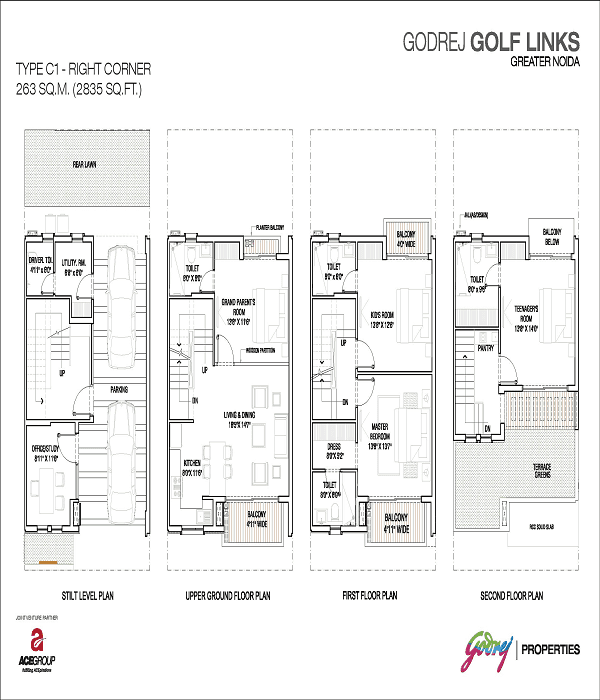 godrej-golf-links-right-corner-floor-plan-2835-sq-ft