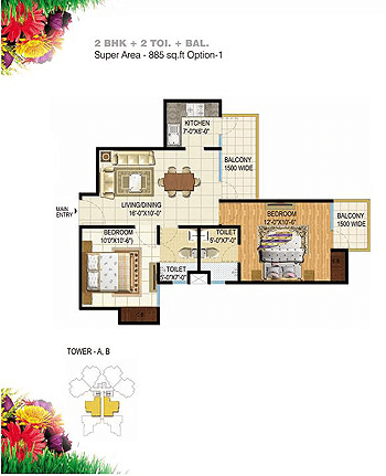 pigeon-spring-meadows-floor-plan-2bhk-2toilet-885-sq-ft